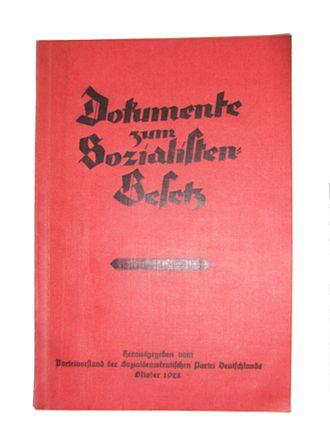 Richard Lipinski - Image: Dokumente zum Sozialisten Gesetz Frei