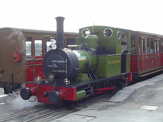 <i>Dolgoch</i> (locomotive) preserved British 0-4-0T locomotive