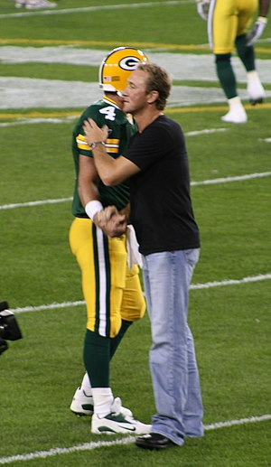 Don Majkowski - Majkowski (right) greeting Brett Favre in 2007