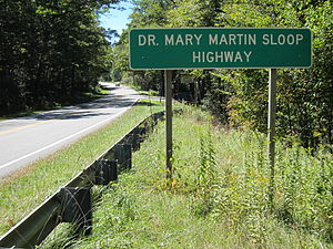U.S. Route 221 in North Carolina - Dr. Mary Martin Sloop Highway