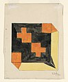 Drawing, Design for Textile in Orange, Black, and Yellow, 1911 (CH 18684899).jpg