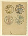Drawing, Flower Studies (Four Designs for Circular Ornaments), 1880–90 (CH 18369177).jpg