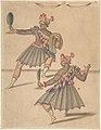 """Drawing of Two """"Americans"""" for Ballet de la Douairière de Billebahaut MET DP807970.jpg"""