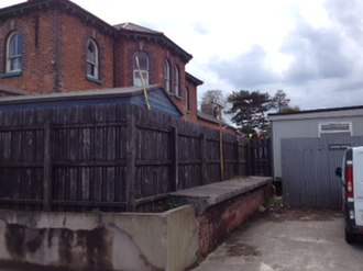 Dromore, County Down - The remnants of the platform at the former Dromore Railway Station.