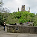 Durham- Kingsgate Footbridge and a view of the Cathedral (geograph 4473386).jpg
