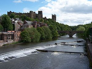 Durham, England - Durham Cathedral and Castle above the River Wear