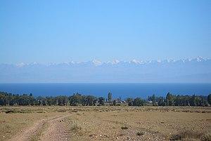 Terskey Alatau - Terskey Alatau range seen from across Issyk Kul Lake