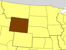 Location of the Diocese of Wyoming