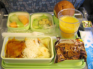 English: EVA Air dinner