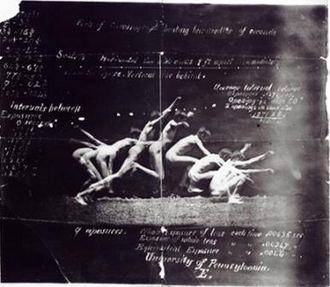 "Georges Hébert - Photo: ""history of a jump"" 1885"