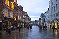 Early evening on Briggate, Leeds (geograph 5703344).jpg