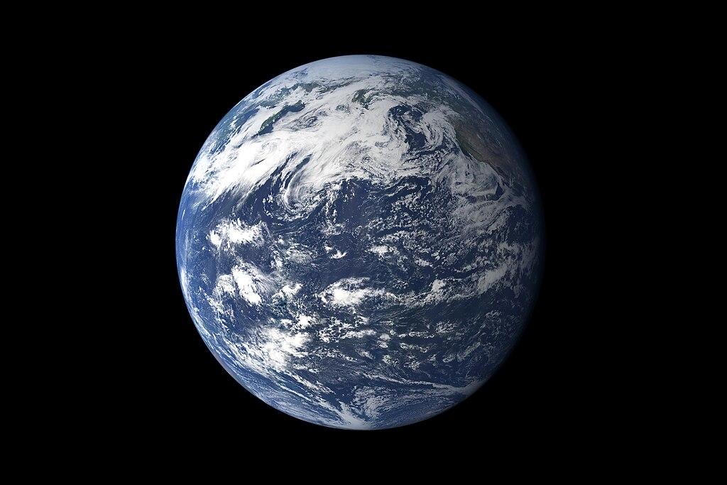Ziemia widziana od strony Pacyfiku