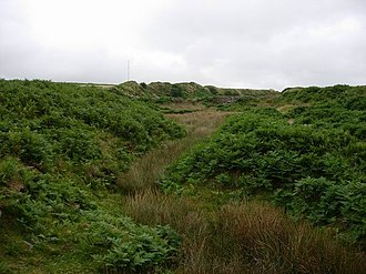 Bal maiden - Image: Earthworks in a valley geograph.org.uk 222343