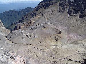 Pichincha Volcano - Image: Ecuador Crater Guagua Pichincha