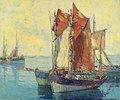Edgar Alwyn Payne Boats in a Harbor.jpg