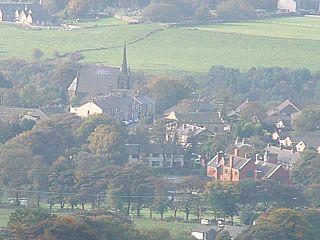 Edgworth village in the United Kingdom