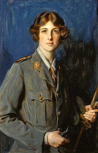 Edith Vane-Tempest-Stewart, Marchioness of Londonderry - Lady Londonderry pictured in the uniform of the Women's Legion
