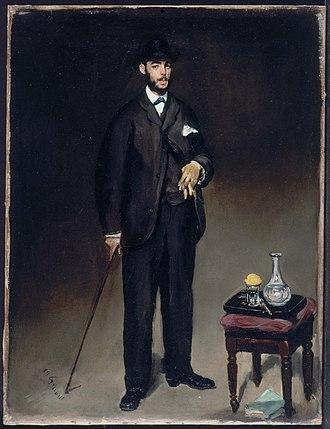 Théodore Duret - Édouard Manet:  Portrait of Théodore Duret  1868