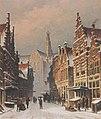 Eduard Alexander Hilverdink Snowy street in Haarlem.jpg