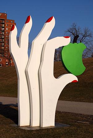 Edwina Sandys - Edwina Sandys' Eve's Apple in Odette Sculpture Park in Windsor, Ontario