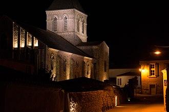 L'Aiguillon-sur-Vie - The 12th century church in L'Aiguillon-sur-Vie