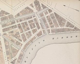 Canalside - Buffalo's Canal Street neighborhood in 1872 was a dense, canal oriented neighborhood
