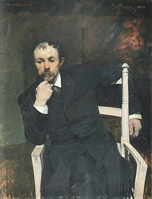 Arne Garborg - A painting of Arne Garborg by Eilif Peterssen, from 1894