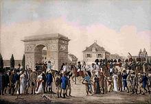 Napoleons Einzug in Düsseldorf im Jahr 1811 schilderte Heine später in Ideen. Das Buch Le Grand. (Quelle: Wikimedia)
