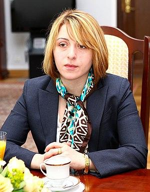Eka Tkeshelashvili - Image: Ekaterine Tkeshelashvili Senate of Poland