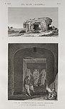El Kab (Elethyia). 1.(2) Vue de l'intérieur de la grotte principale; 2.(1) Vue d'une ancienne carriere (NYPL b14212718-1267896).jpg