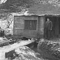 Electricity supplied by the National Grid reaches Llanuwchllyn after 54 years of producing electricity locally (14811510209).jpg