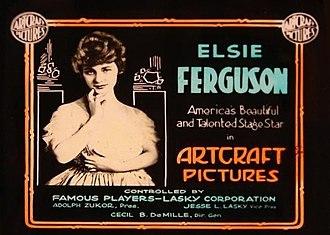 Elsie Ferguson - Paramount-Artcraft lantern slide announcing Ferguson as an Artcraft player.