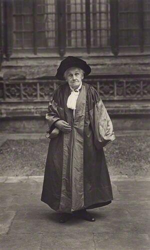 Elizabeth Wordsworth - Elizabeth Wordsworth in academic dress. 1928 photograph.
