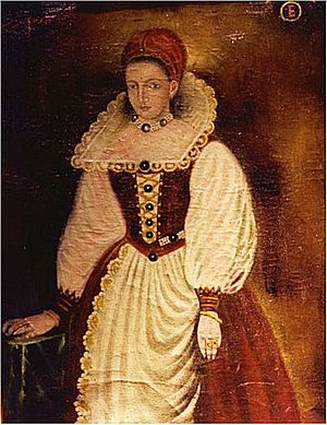 Elizabeth Báthory - Copy of the lost 1585 original portrait of Elizabeth Báthory