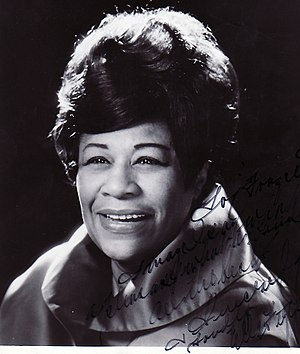 Ella Fitzgerald - Fitzgerald in 1968, courtesy of the Fraser MacPherson estate