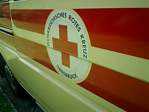 Austrian Red Cross - Emblem of the Austrian Red Cross in Innsbruck