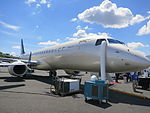 Embraer Lineage 1000 exterior facing right.JPG