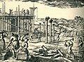 Emona rebuilding, Valvasor, 1689.jpg