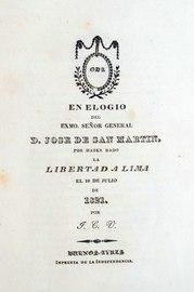 En elogio del Excmo señor General D. José de San Martín - Juan Cruz Varela.pdf