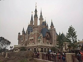 Enchanted Storybook Castle on the opening day of Shanghai Disneyland Park.jpg
