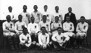 Douglas Lambert - The England team for the England-France match on 28 January 1911.