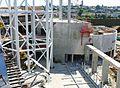 Entre Pompidou-Metz - Premier montage du pylône et sudio de création.JPG