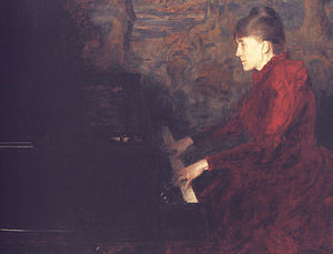 Erika Nissen - Painted by Erik Werenskiold around 1890.