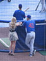 Erin Andrews, Cubs vs Brewers, July 30, 2008 2.jpg