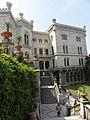Escadas dos jardins do Castelo di Miramare. - panoramio.jpg