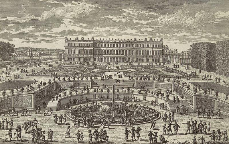 File:Etching of the Palace of Versailles in circa 1680 by Adam Perelle.png