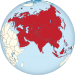 Eurasia on the globe (red).svg
