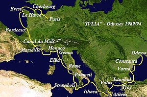 Ivlia (ship) - Route of the expedition