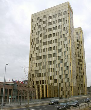 European Court of Justice - Twin towers of the European Court of Justice, in Kirchberg, Luxembourg.