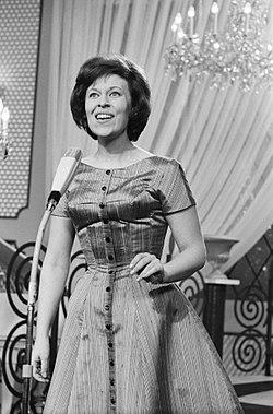 Eurovisie Songfestival 1962 te Luxemburg, voor Zweden Inger Berggren, Bestanddeelnr 913-6603.jpg